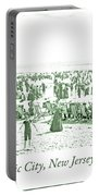 Beach, Bathers, Ocean, Atlantic City, New Jersey, 1902 Portable Battery Charger