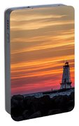 Beautiful Ludington Lighthouse Sunset Portable Battery Charger