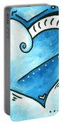 Beautiful Original Acrylic Heart Painting From The Pop Of Love Collection By Madart Portable Battery Charger