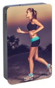 Beautiful Running Girl Portable Battery Charger