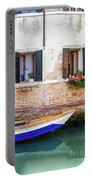 Beautiful View Of Water Street And Old Buildings In Venice, Ital Portable Battery Charger