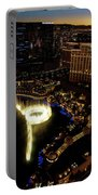 Bellagio Hotel Fountain, Las Vegas Portable Battery Charger