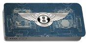 Bentley - 3 D Badge Over 1930 Bentley 4.5 Liter Blower Vintage Blueprint Portable Battery Charger