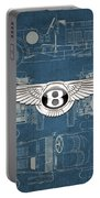Bentley - 3 D Badge Over 1930 Bentley 4.5 Liter Blower Vintage Blueprint Portable Battery Charger