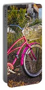 Bicycle At The Beach II Portable Battery Charger