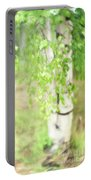 Birch In Spring Portable Battery Charger