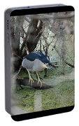 Black Crowned Night Heron Portable Battery Charger
