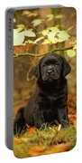 Black Labrador Retriever Puppy Portable Battery Charger