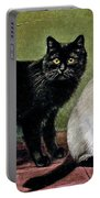 Black Manx And Siamese Cats Portable Battery Charger