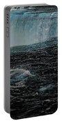 Black Niagara Portable Battery Charger by Richard Ricci