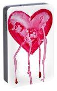 Bleeding Heart Portable Battery Charger