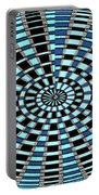 Blue And Black Abstract Portable Battery Charger