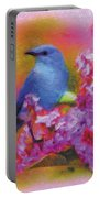 Blue Bird In The Lilac's Portable Battery Charger