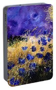 Blue Cornflowers Portable Battery Charger