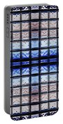 Blue Toned Glass Brick Window Abstract  Portable Battery Charger