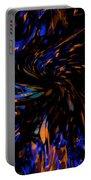 Blue Wormhole Nebula Portable Battery Charger