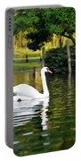 Boston Public Garden Swan Green Reflection Portable Battery Charger