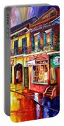 Bourbon Street Red Portable Battery Charger by Diane Millsap