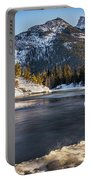 Bow River With Mountain View Banf National Park Portable Battery Charger