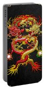 Brotherhood Of The Snake - The Red And The Yellow Dragons Portable Battery Charger by Serge Averbukh