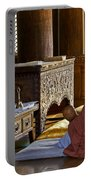 Buddhist Monk In Prayer Portable Battery Charger