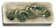 Bugatti Type 57 - Atlantic 3 - 1934 - Automotive Art - Car Posters Portable Battery Charger