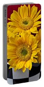 Bunch Of Sunflowers Portable Battery Charger by Garry Gay