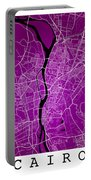 Cairo Street Map - Cairo Egypt Road Map Art On Colored Backgroun Portable Battery Charger