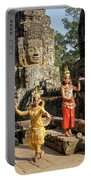 Cambodian Dancers At Angkor Thom Portable Battery Charger