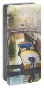 Canals Of Venice With Instagram Vintage Style Filter Portable Battery Charger