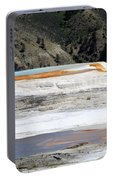 Canary Spring At Mammoth Hot Springs Upper Terraces Portable Battery Charger
