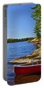 Canoe On Shore Portable Battery Charger