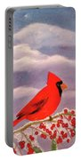 Cardinal Christmas Portable Battery Charger