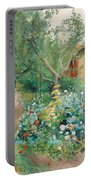 Carl Larsson, Garden Scene From Marstrand On The West Coast Of Sweden. Portable Battery Charger