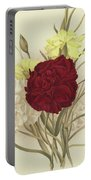 Carnations Portable Battery Charger