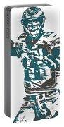 Carson Wentz Philadelphia Eagles Pixel Art 5 Portable Battery Charger