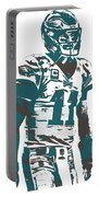 Carson Wentz Philadelphia Eagles Pixel Art 6 Portable Battery Charger