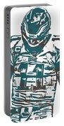 Carson Wentz Philadelphia Eagles Pixel Art 7 Portable Battery Charger