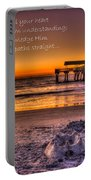 Castles In The Sand 2 Tybee Island Pier Sunrise Portable Battery Charger