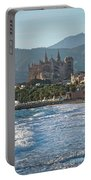 Cathedral And City Beach With People  Portable Battery Charger