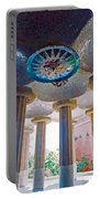 Ceiling Boss And Columns, Park Guell, Barcelona Portable Battery Charger