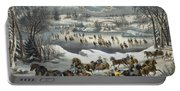 Central Park In Winter Portable Battery Charger