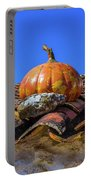 Ceramic Pumpkin On A Roof Portable Battery Charger