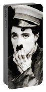 Charlie Chaplin, Vintage Actor And Comedian Portable Battery Charger