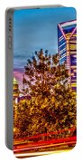 Charlotte City Skyline Early Morning At Sunrise Portable Battery Charger