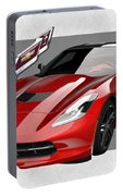 Chevrolet Corvette  C 7  Stingray With 3 D Badge  Portable Battery Charger