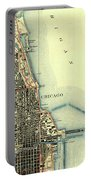Chicago Old Map Portable Battery Charger