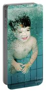 Child Swims Underwater  Portable Battery Charger