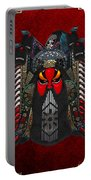 Chinese Masks - Large Masks Series - The Red Face Portable Battery Charger by Serge Averbukh