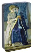 Christ And His Mother Studying The Scriptures Portable Battery Charger